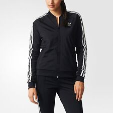 SMALL adidas Women's  SUPERGIRL 2PC SET TRACK JACKET & TRACK  PANTS  BLACK  1AVL