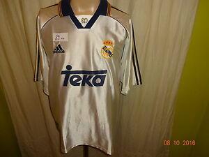 Real-MADRID-ADIDAS-ORIGINALE-maglia-di-casa-1998-2000-034-TEKA-034-Taglia-L-XL-TOP
