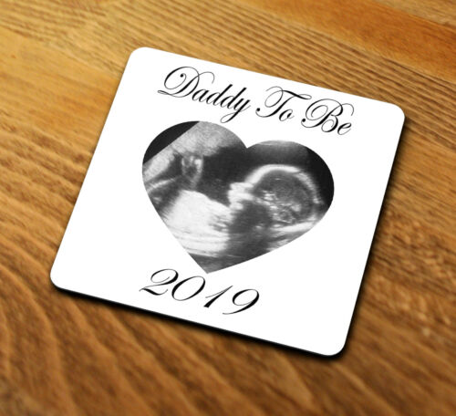 Personalised Daddy To Be 2020 Coaster Gift Your Baby Scan Image Dad Fathers Day