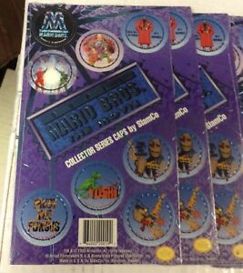 Details about Super Mario Bros  The Movie Collector Milk Caps Pogs Lot of  10 New & Sealed Sets