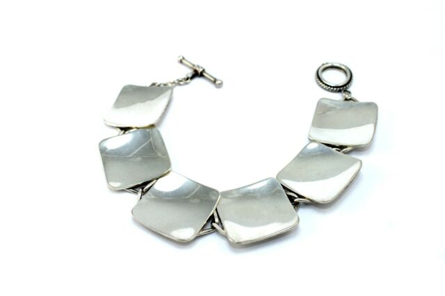 RARE Vintage DANISH Modernist PAUL BANG Sterling Silver Scandinavian Bracelet