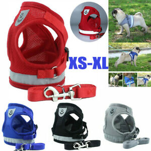Pet-Dog-Puppy-Soft-VEST-Harness-Leash-Lead-Walking-Collar-Chest-Strap-XS-XL