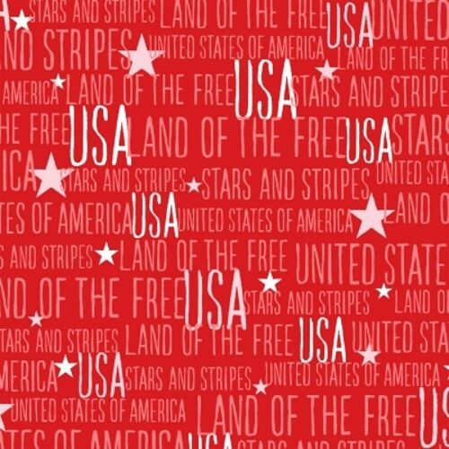 Windham Stars /& Stripes By Whistler Studio 41610 3 Red Words BTY COTTON