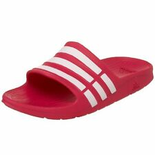 f72bbf01dcdc76 adidas Duramo K5 Girls Youth Size 5 Slides Pink White Sandals for ...