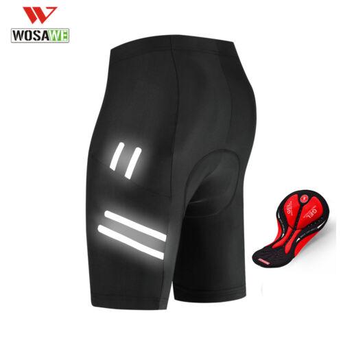 WOSAWE Men/'s Cycling Shorts Bicycle 3D Padded MTB Bike Half Pants Riding Black