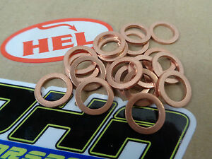 15x-HEL-Motorcycle-Bike-Car-Brake-Line-Banjo-Bolt-Copper-Crush-Washers-M10