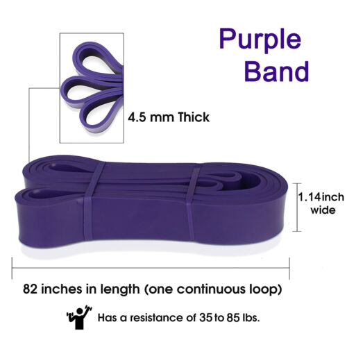 5 Style Pull Up Stretch Resistance Band Loop for Body Stretching Gym Exercise US
