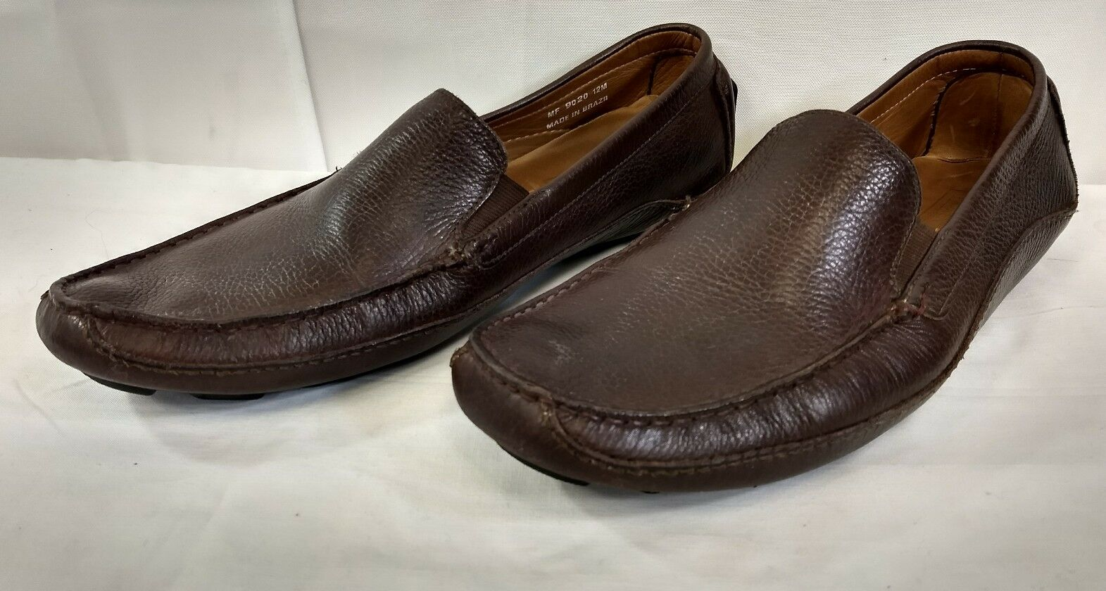 Mercanti Fiorentini Relax Brown Leather Driving Moccasins Loafers Moc Men's 12 M