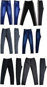 Girls-Kids-Children-Denim-Blue-Jeggings-Stretch-Pants-Trousers-Age-7-to-14-Years