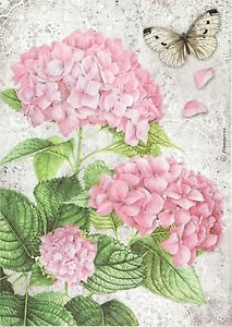 Flowers on Greean for Decoupage Scrapbooking Sheet Rice paper
