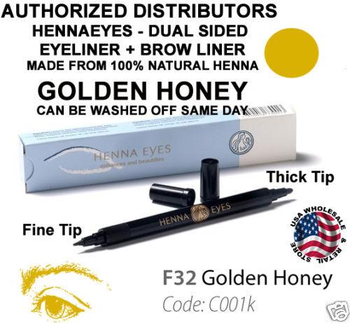 Henna Eyes Golden Honey Color Eyebrow Eye Liner Pen Usa Ebay