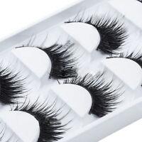 Natural Thick 5 Pairs Makeup False Eyelashes Long Handmade Eye Lashes Extension