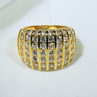 18k Yellow Gold Filled Diamonique Women Fashion Gift Jewelry Ring R7478 Size5-10