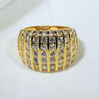 18k Yellow Gold Filled Diamonique Women Fashion Gift Jewelry Ring R7478 Size5-10