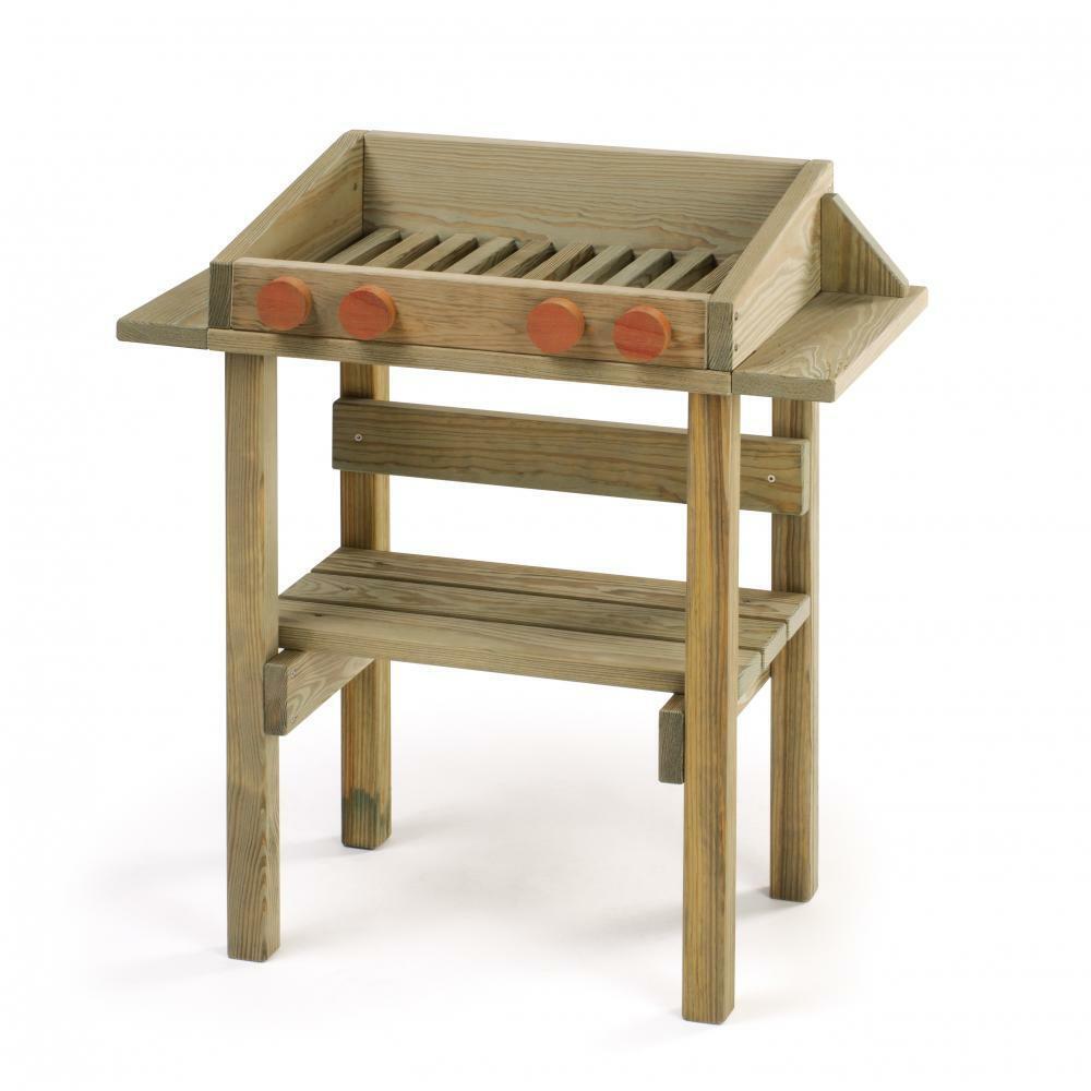 Spiel-Grill aus Holz für draussen Outdoor Kinder Erzi 10051