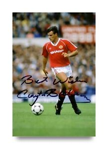 Clayton-Blackmore-Hand-Signed-6x4-Photo-Manchester-United-Wales-Autograph-COA