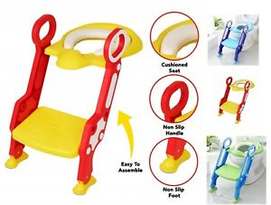 New-Potty-Toilet-Seat-Adjustable-Baby-Toddler-Kid-Trainer-Step-Stool-Ladder