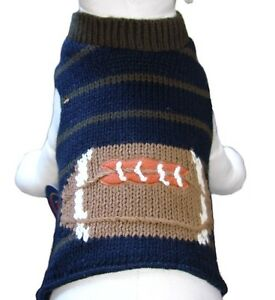 Cha-Cha-Couture-Navy-Olive-Football-Dog-Sweater-Vest-No-D-Ring-Choose-Size