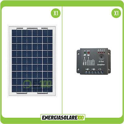 10W 12V Solarpanel Solarmodul Laderegler 5A Solaranlage Garten Inselanlage