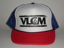 Volcom OTTO TRUCKER Mesh Snapback Hat Red Blue OSFA NEW Cap Skate Surf Snow Bike