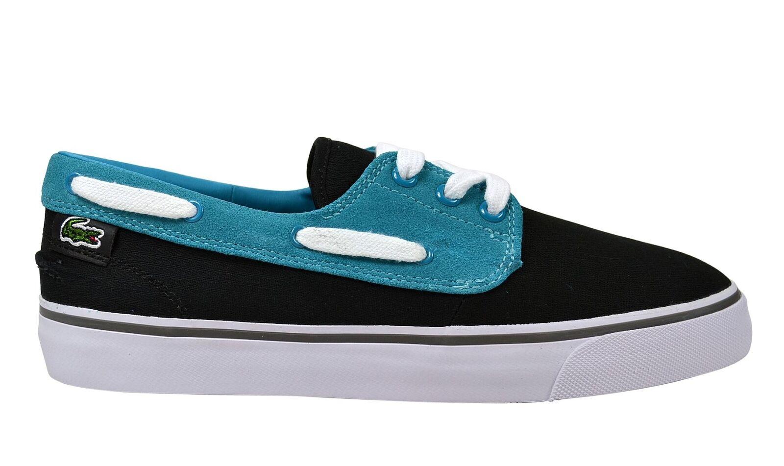 Billig hohe Qualität Lacoste Barbuda black/blue Schuhe/Sneaker schwarz/blau