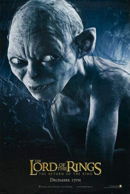 Lord Of The Rings RETURN OF THE KING 2003 Golum Advance DS 2 Sided Movie Poster