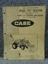 Oem Factory Case W3 Amp Model 42 Backhoe Loader Tractor Parts Catalog Manual B1040