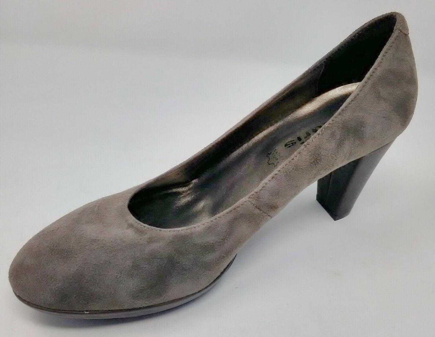 Tamaris Womens UK 6 Pepper GREY shoes Heels 1-22422-27 324 EU39 Suede Leather