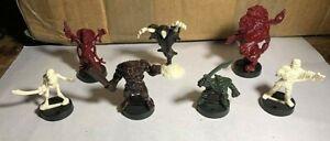 Dark World Monster Figures Korak, Manticore, Haunter, Mummy, Skeleton, Ogre, Orc