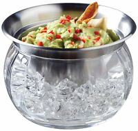 Prodyne Iced Dip-on-ice Stainless-steel Serving Bowl , New, Free Shipping