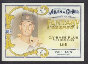 Topps-Allen-amp-Ginter-2018-Fantasy-Goldmine-FG-19-Ted-Williams-Boston-Red-Sox