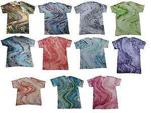 Pick-a-Multi-Color-Marble-Tie-Dye-T-Shirts-S-M-L-XL-2XL-3XL-Colortone-Gildan