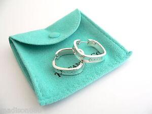 d384aa408 Tiffany & Co Sterling Silver 1837 Square Hoop Earrings Rare | eBay