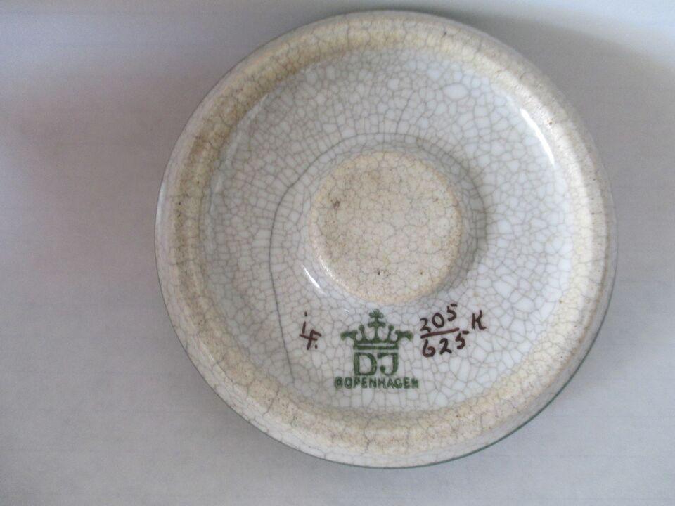 Porcelæn, og stentøj med Craquelé