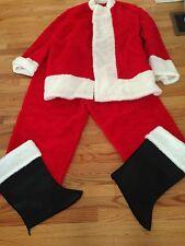 Red Christmas Santa Claus  Suit Faux Fur Men Extra Large Costume