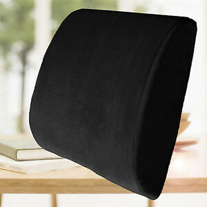 Memory Foam Lumbar Cushion Back Support Travel Pillow Car