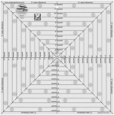 "Creative Grids 12 1/2"" Square It Up or Fussy Cut Square Sewing & Quilting Ruler"