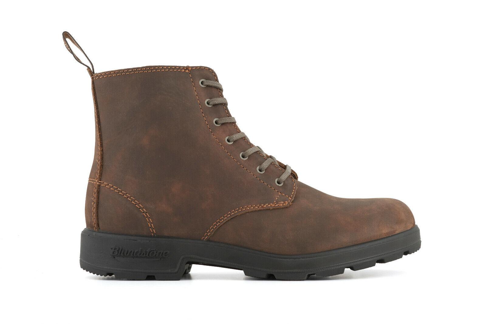 bluendstone 1450 Rustikal brownes Leder Unisex Schnür Stiefel Chelsea
