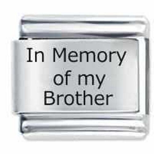 En memoria de mi hermano Daisy italiano encantos pulsera clásico se adapta a nominación
