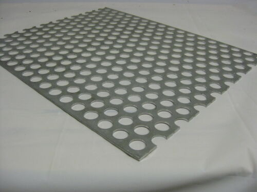 """12/""""x 24/""""  3//4/"""" hole 1/"""" Stagger 3003 H14 Perforated Aluminum Sheet .125 8 ga"""