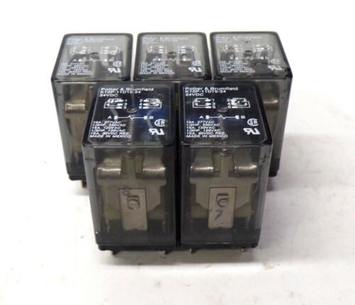 POTTER /& BRUMFIELD RELAY 15 AMP LOT OF 5 24 VOLT DC K10P-11D15-24