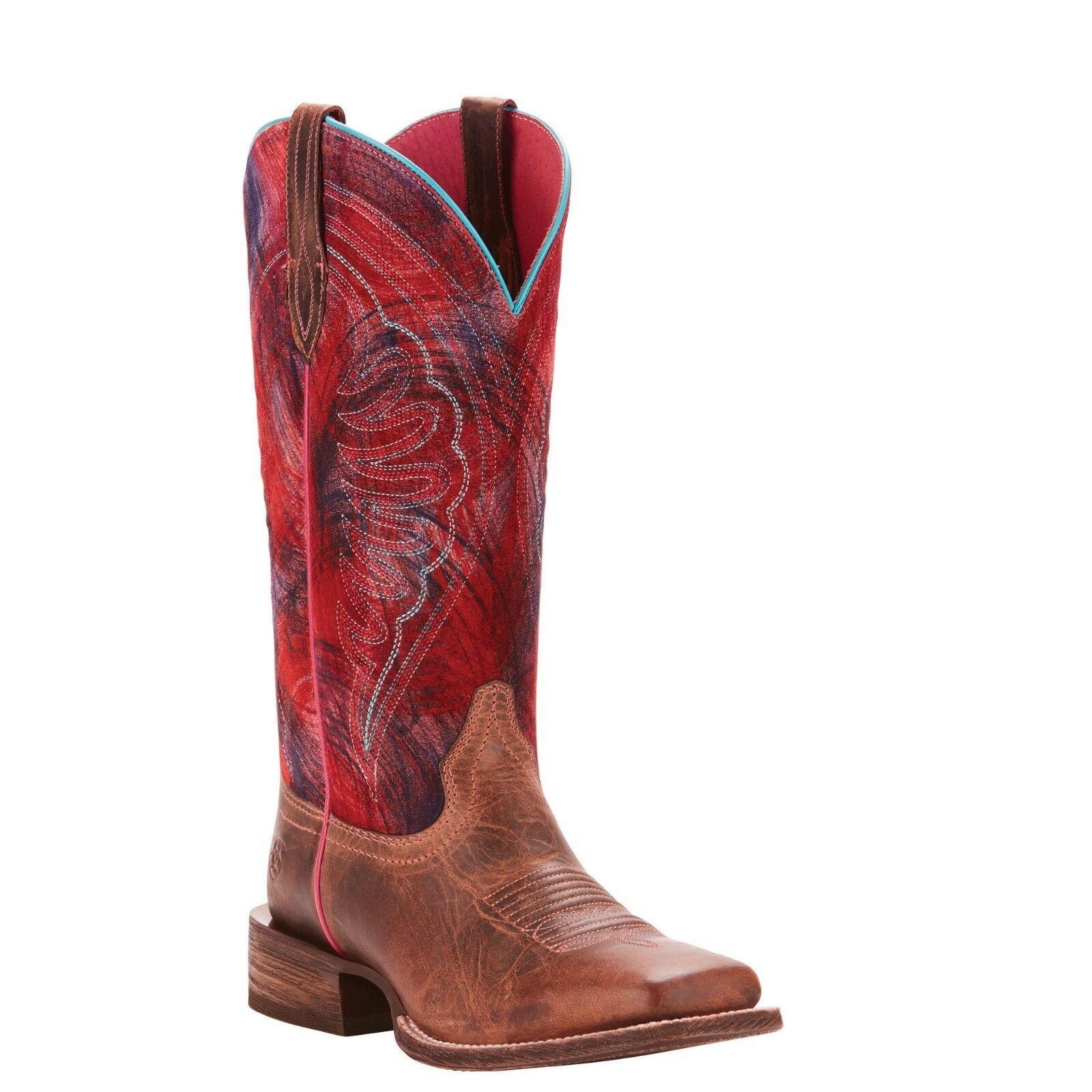 vendita calda online Ariat® Ladies Circuit Shiloh Weathered Tan & rosso rosso rosso stivali 10025051  negozio online