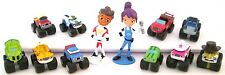 BLAZE AND THE MONSTER MACHINES 12 Figure Set NICKELODEON PVC TOY Cake Topper AJ!