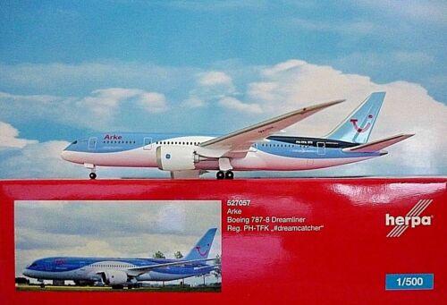 Herpa Wings 1:500 Boeing 787-8 Dreamliner Arke  PH-TFK  527057 Modellairport500
