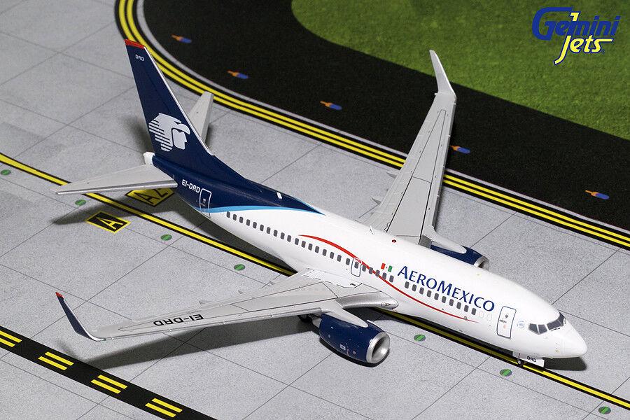 Gemini Jets Aeromexico Boeing 737-700 (W) 1 200 DIE-CAST G2AMX459 En Stock