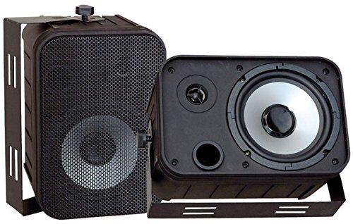Pyle Home 500W 6.5  Indoor Outdoor Waterproof Bass Reflex Main   Stereo Speakers