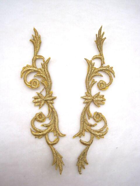 1 Paar Edle Applikationen Gold  Ranken AP-AB-1016