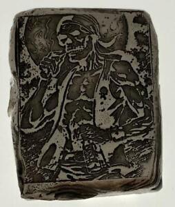 "2 Oz MK BarZ /""Smoky Joe The Pirate/"" Bar Hand Poured /& Stamped .999 FS"
