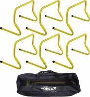 Set Of 6 Adjustable Agility Hurdles Set 6 Or 12 With Carry Bag