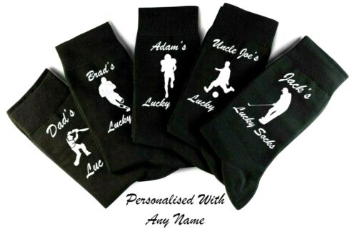 Personalised Fathers Day Lucky football Rugby socks DAD UNCLE  Novelty Gift